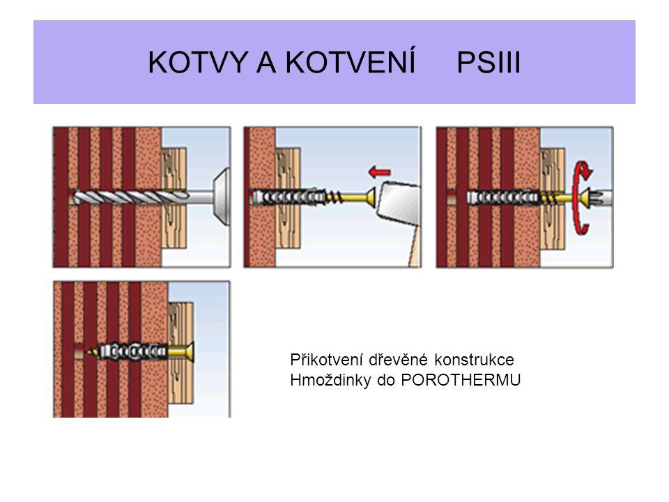 KOTVY A KOTVENÍ PSIII Přikotvení dřevěné konstrukce