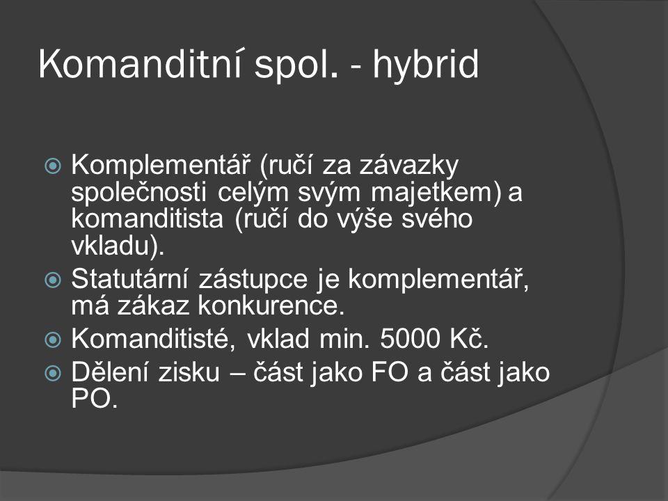 Komanditní spol. - hybrid