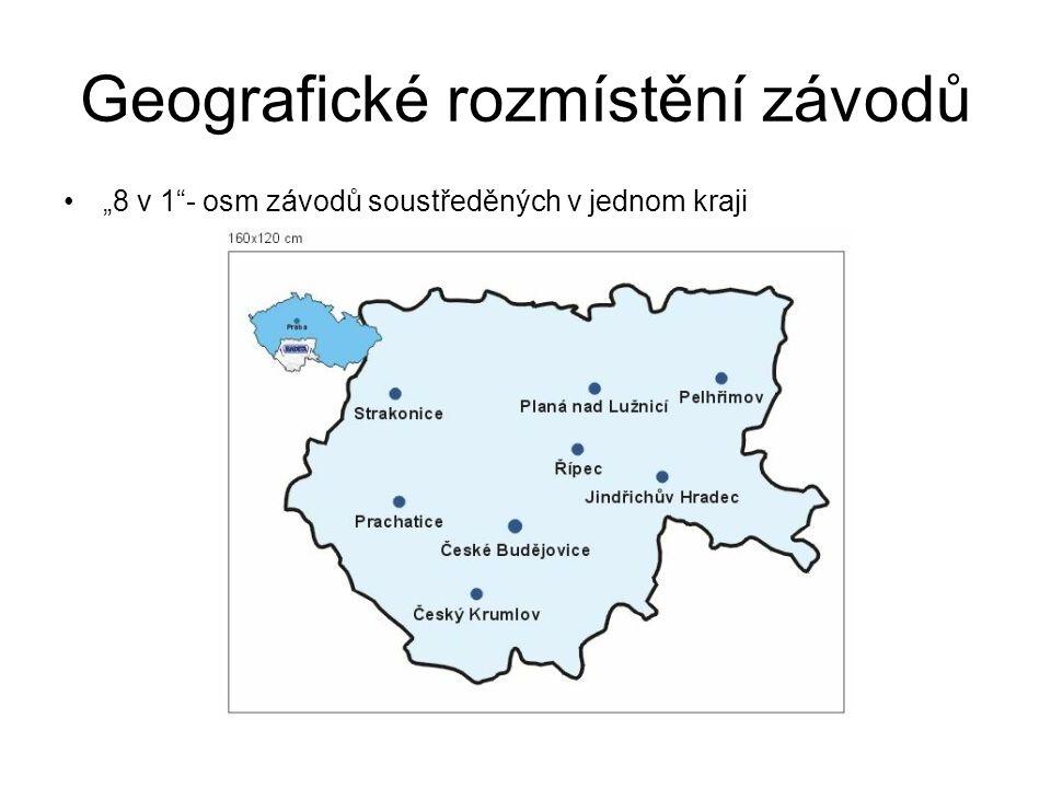 Geografické rozmístění závodů