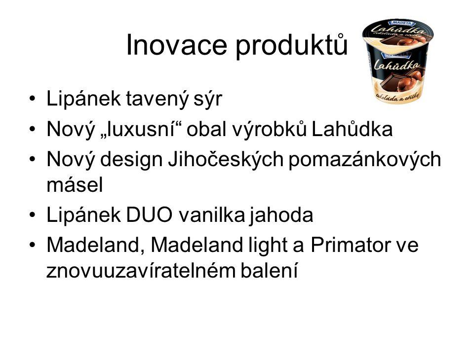 Inovace produktů Lipánek tavený sýr