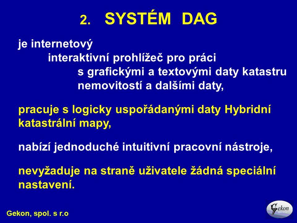 2. SYSTÉM DAG je internetový interaktivní prohlížeč pro práci