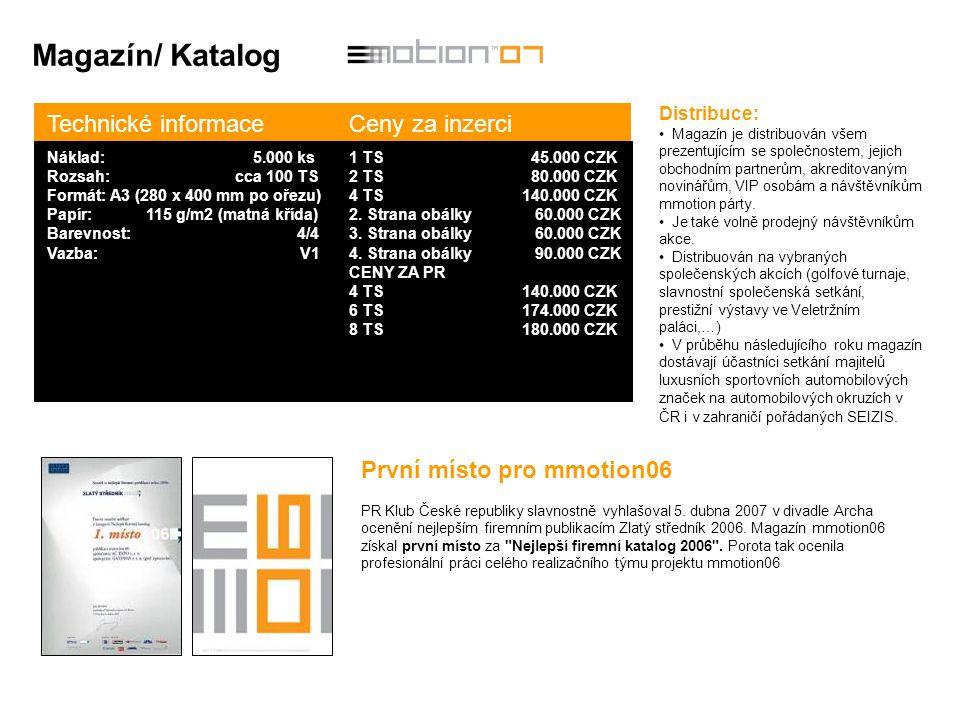 Magazín/ Katalog Technické informace Ceny za inzerci