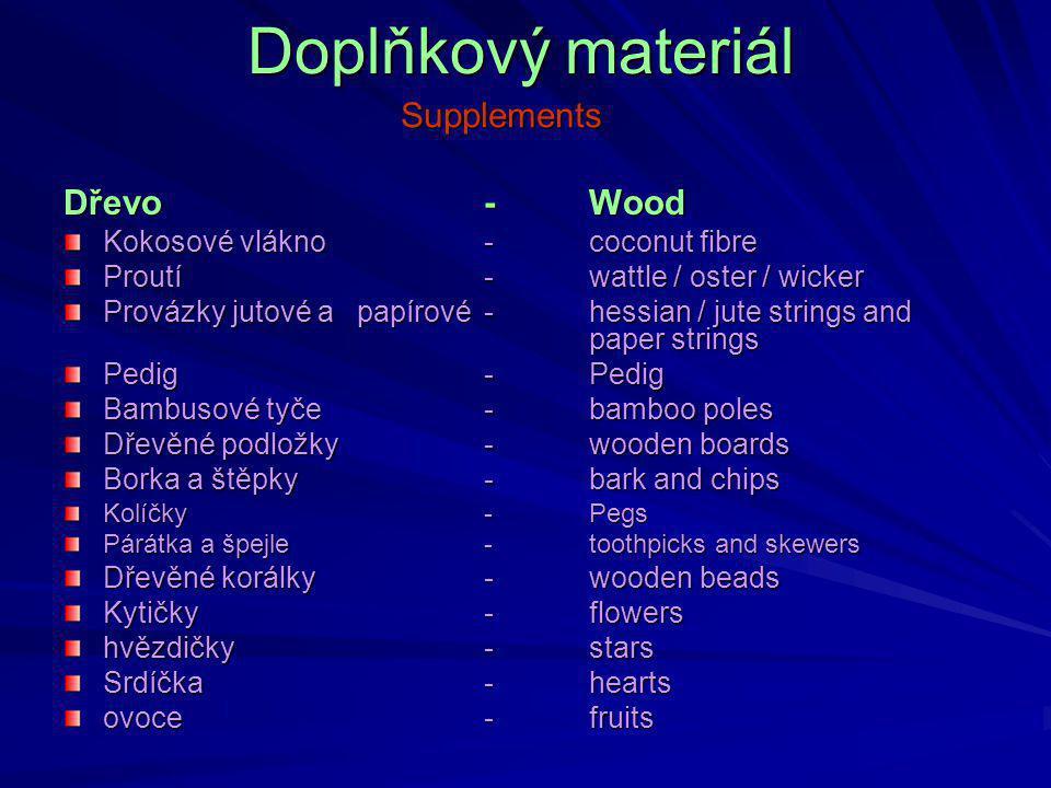 Doplňkový materiál Supplements Dřevo - Wood