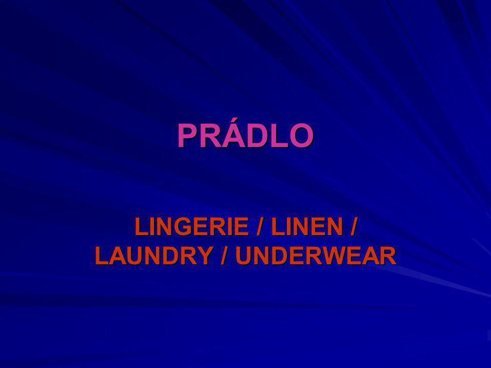 LINGERIE / LINEN / LAUNDRY / UNDERWEAR