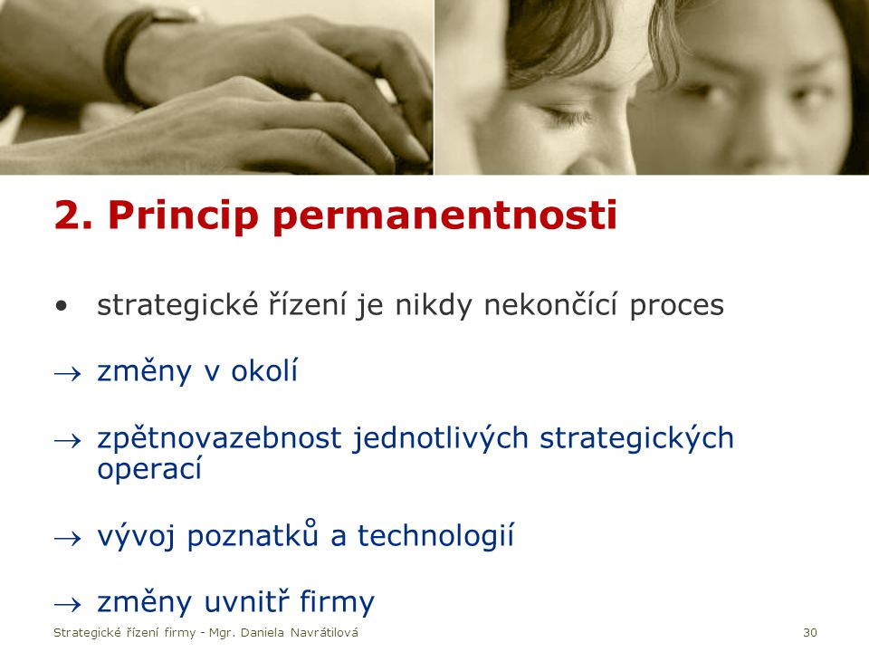 2. Princip permanentnosti