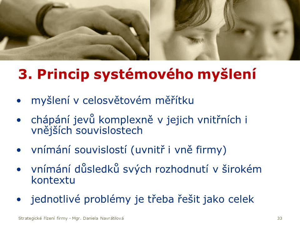3. Princip systémového myšlení
