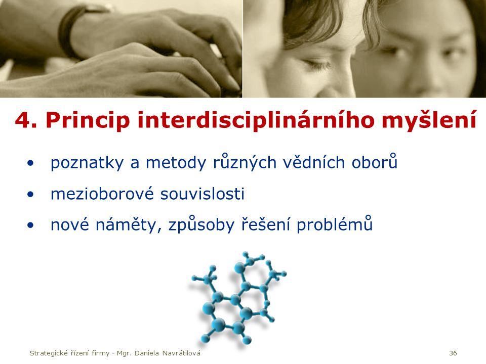 4. Princip interdisciplinárního myšlení