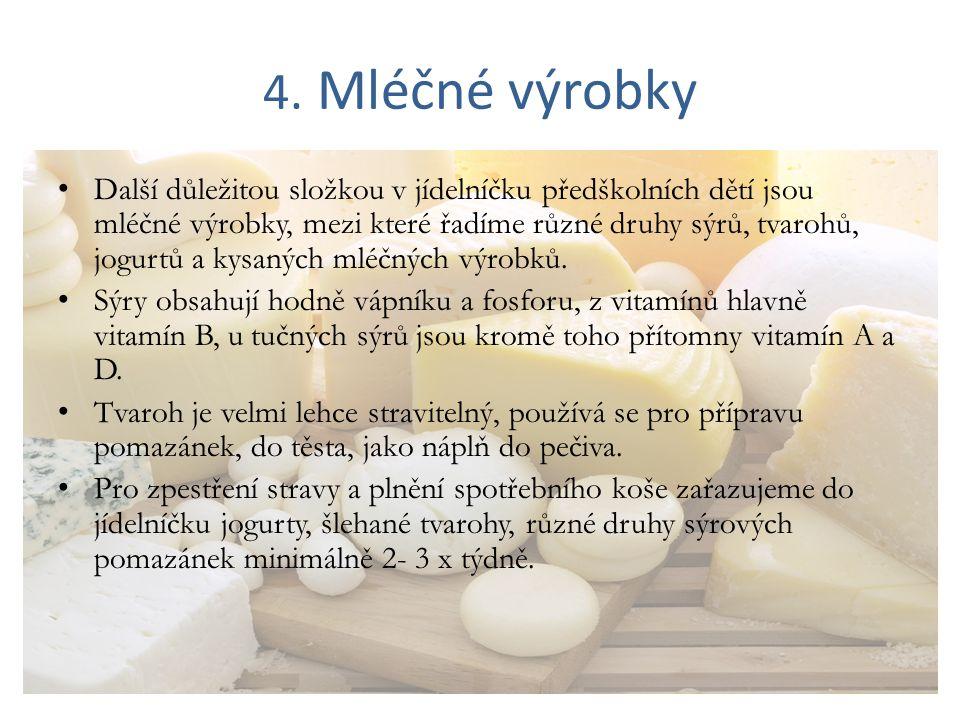 4. Mléčné výrobky