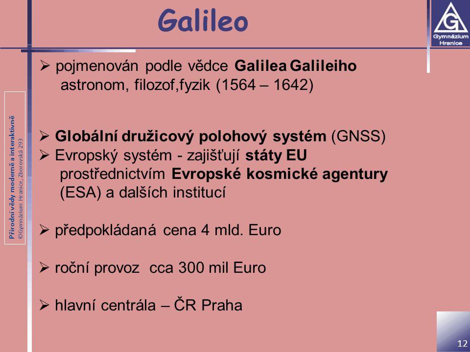 Galileo pojmenován podle vědce Galilea Galileiho