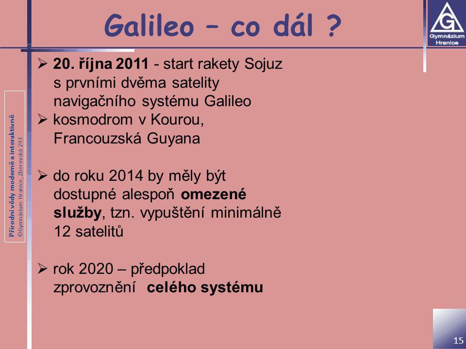 Galileo – co dál 20. října 2011 - start rakety Sojuz