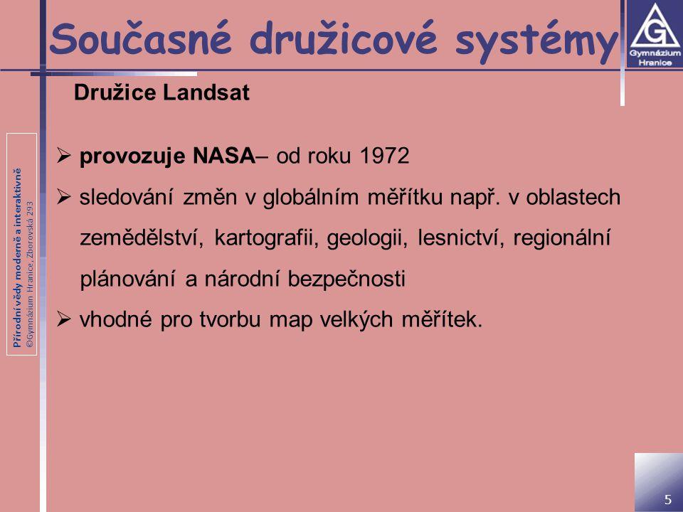Současné družicové systémy