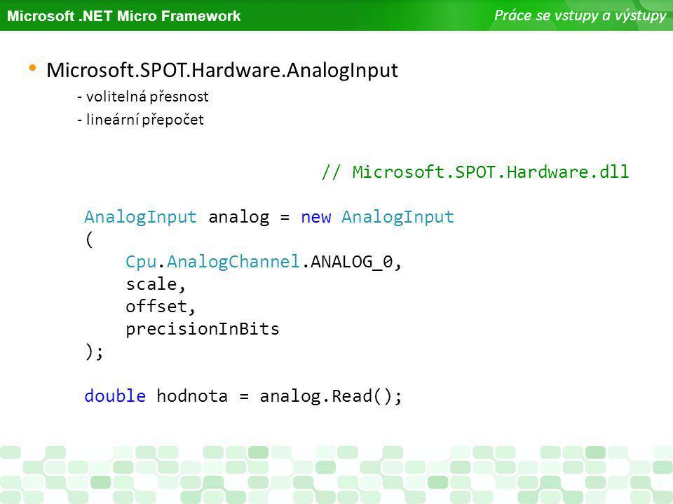 Microsoft.SPOT.Hardware.AnalogInput