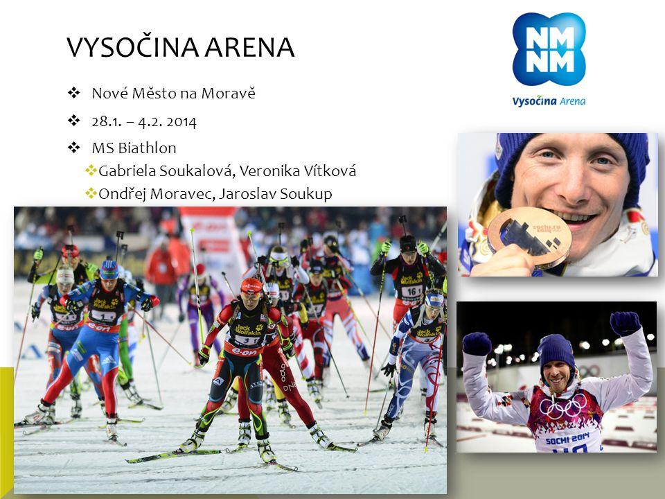 Vysočina arena Nové Město na Moravě 28.1. – 4.2. 2014 MS Biathlon