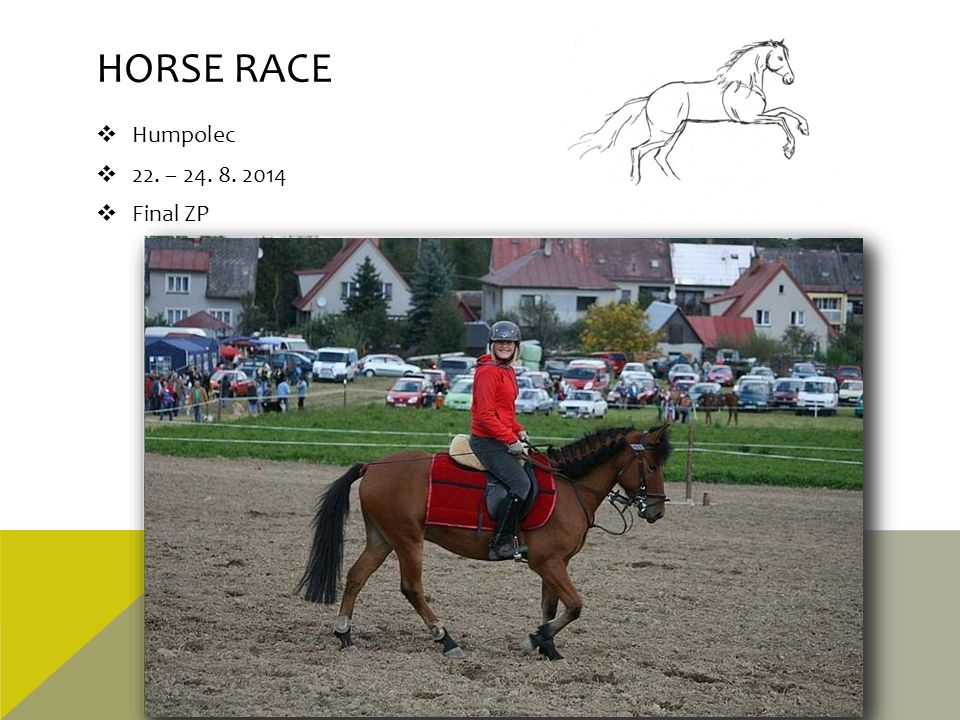 Horse race Humpolec 22. – 24. 8. 2014 Final ZP