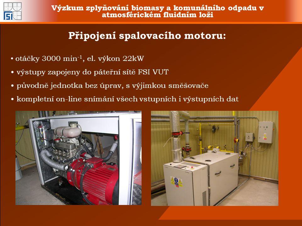 Připojení spalovacího motoru: