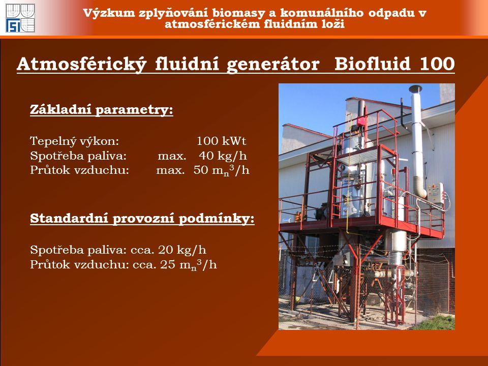 Atmosférický fluidní generátor Biofluid 100