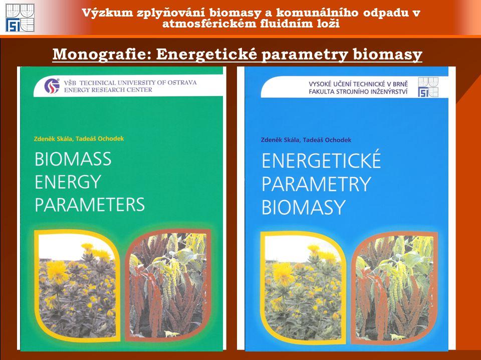 Monografie: Energetické parametry biomasy