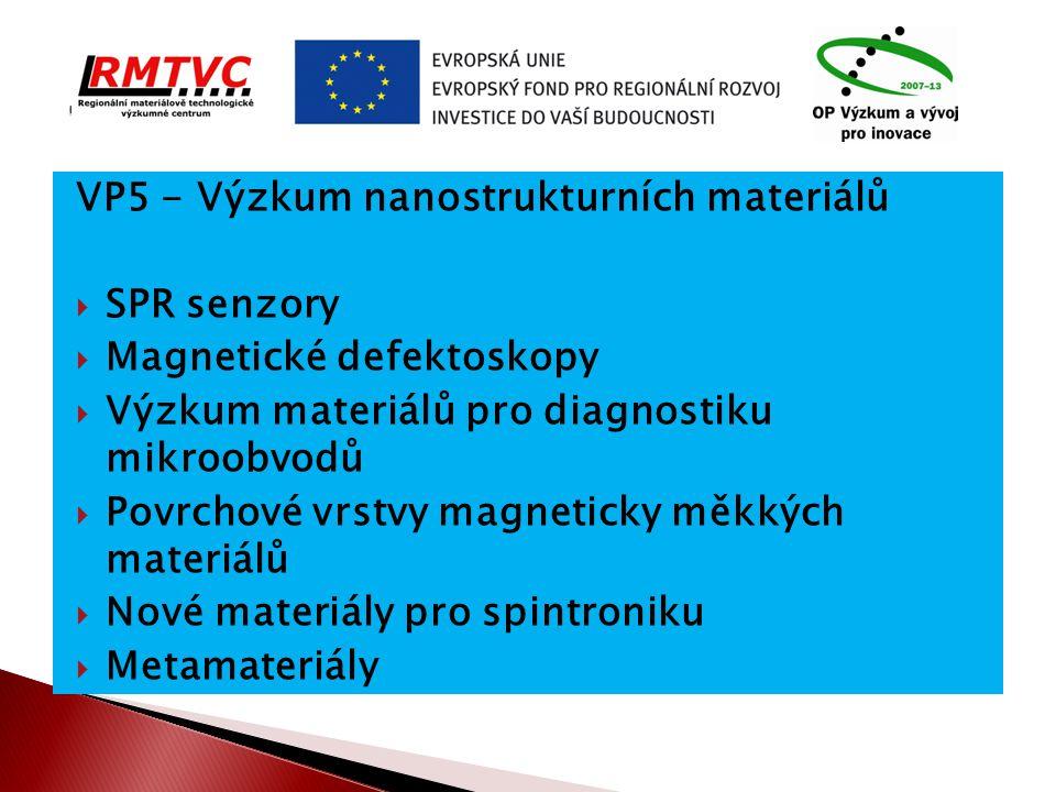. VP5 - Výzkum nanostrukturních materiálů SPR senzory