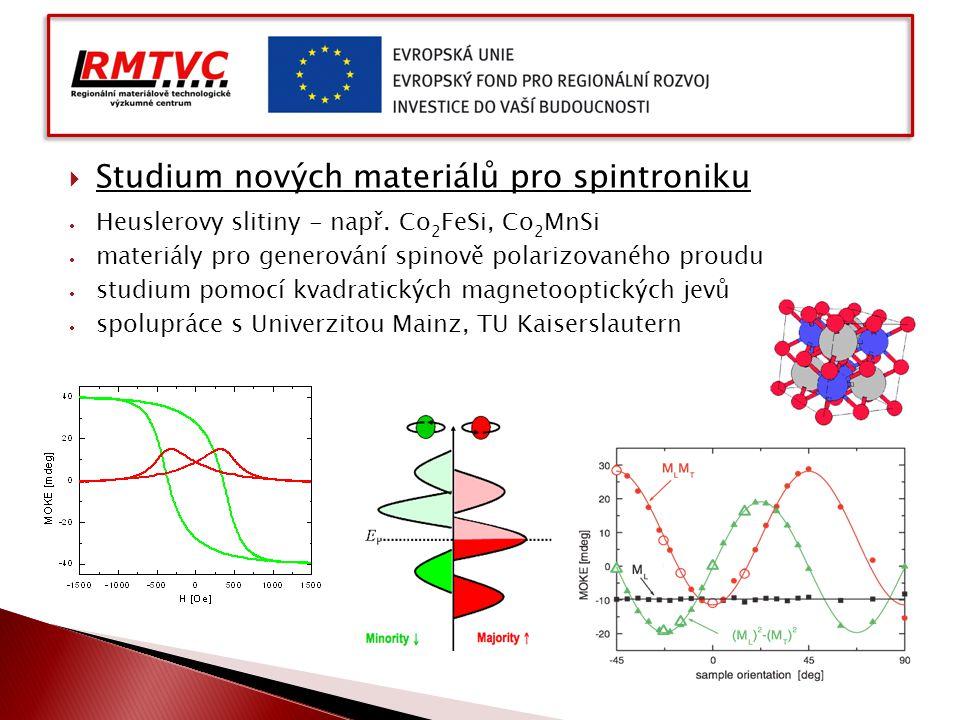 Studium nových materiálů pro spintroniku