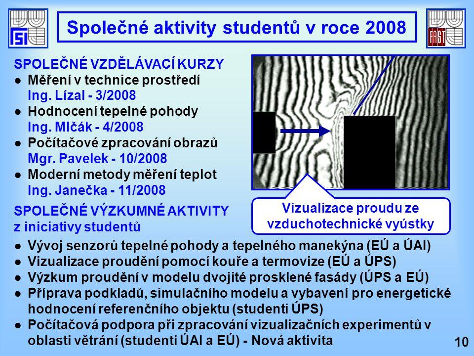 Společné aktivity studentů v roce 2008