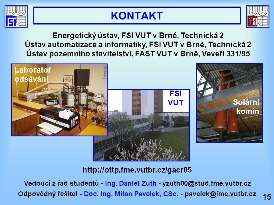 KONTAKT Energetický ústav, FSI VUT v Brně, Technická 2