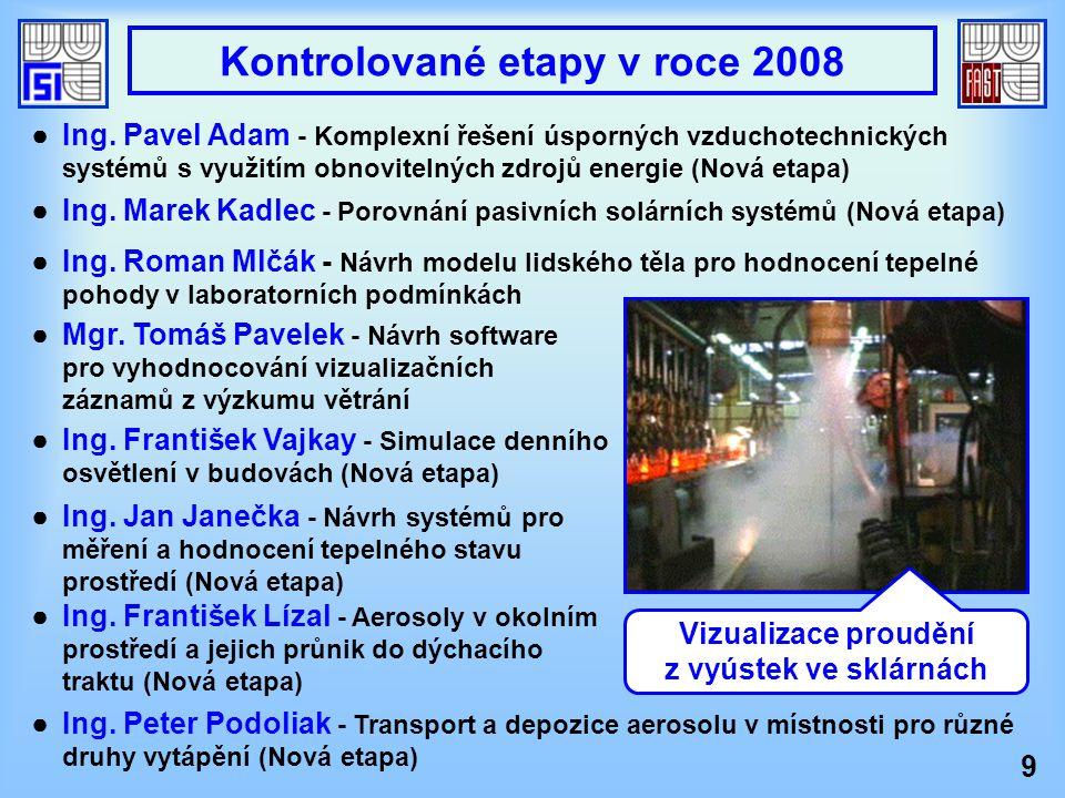 Kontrolované etapy v roce 2008