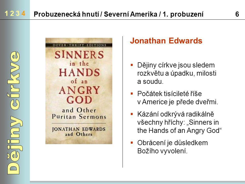 Dějiny církve Jonathan Edwards 1 2 3 4