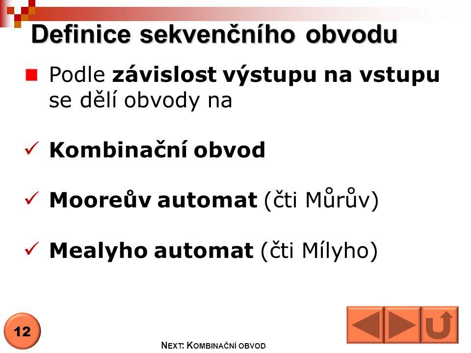 Definice sekvenčního obvodu