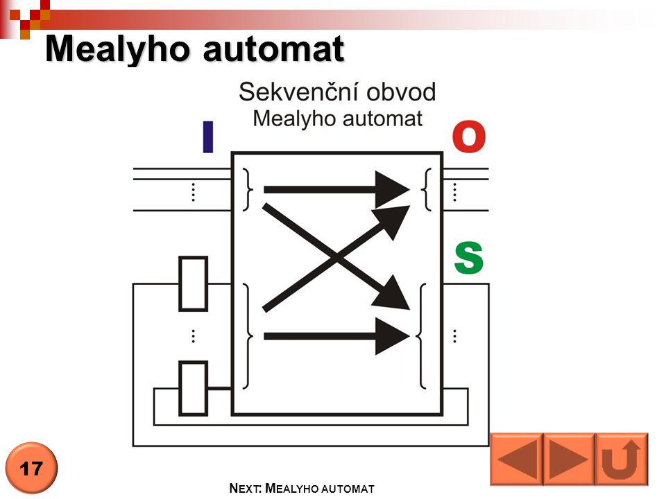 Mealyho automat 17 Next: Mealyho automat