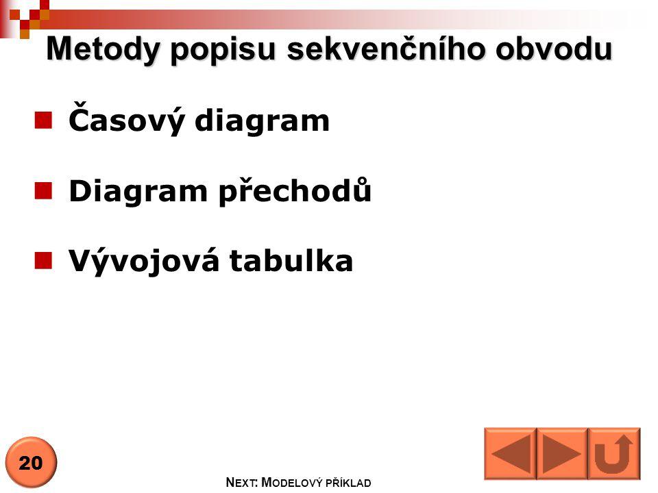 Metody popisu sekvenčního obvodu