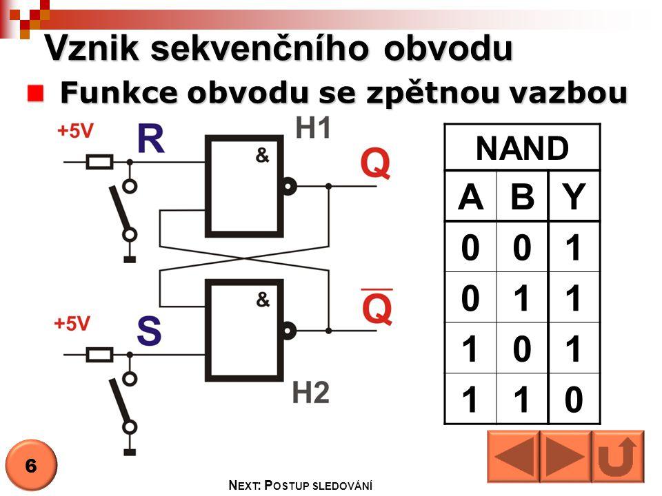 Vznik sekvenčního obvodu