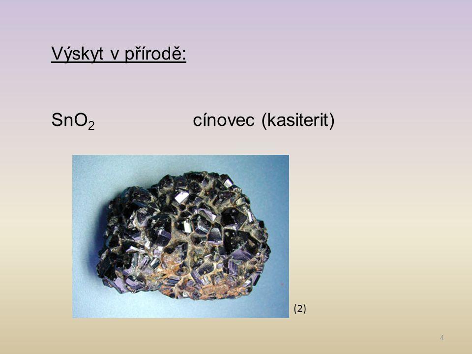 SnO2 cínovec (kasiterit)
