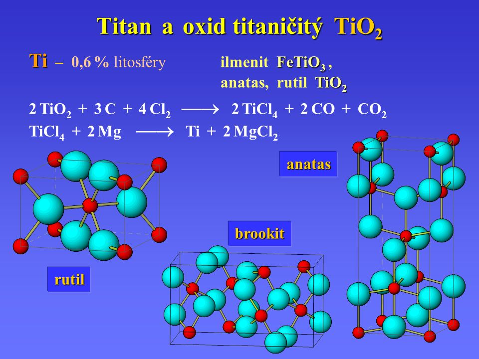 Titan a oxid titaničitý TiO2