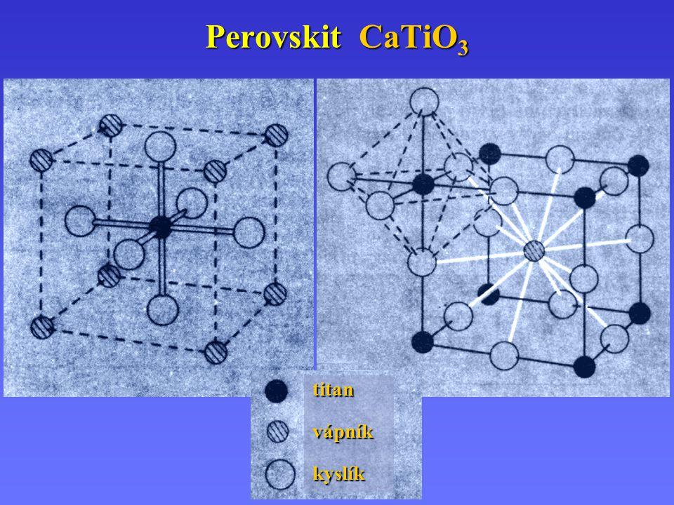 Perovskit CaTiO3 titan vápník kyslík