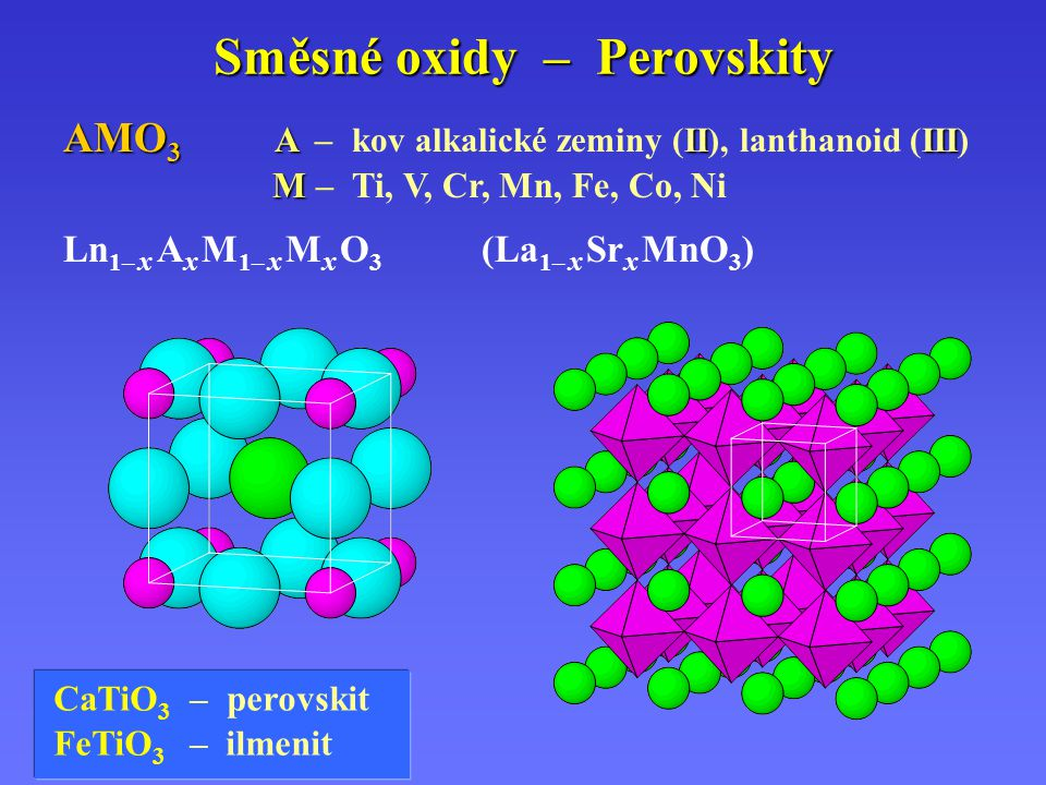Směsné oxidy – Perovskity