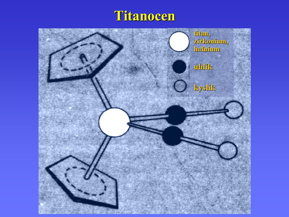 Titanocen titan, zirkonium, hafnium uhlík kyslík