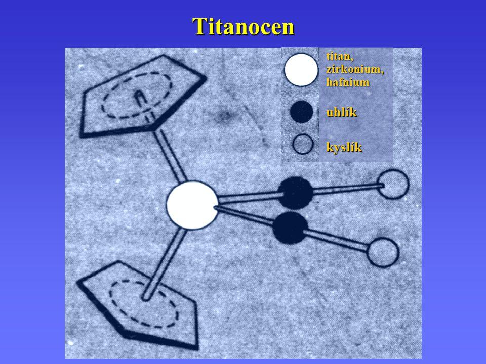 Titanocen titan, zirkonium, hafnium uhlík kyslík