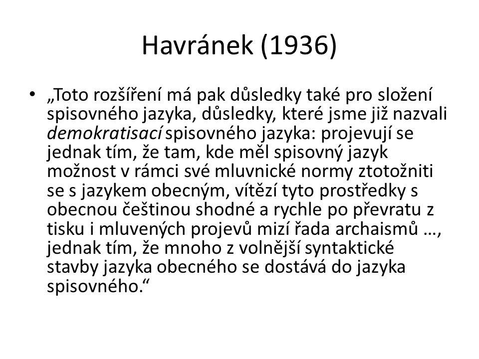 Havránek (1936)
