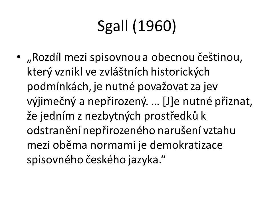 Sgall (1960)