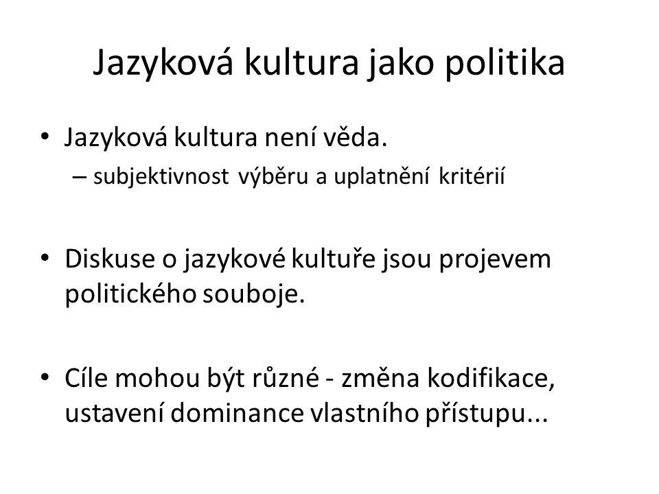 Jazyková kultura jako politika