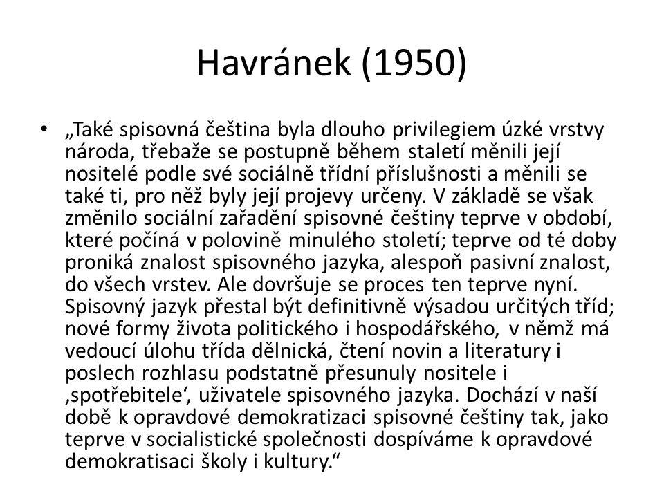 Havránek (1950)