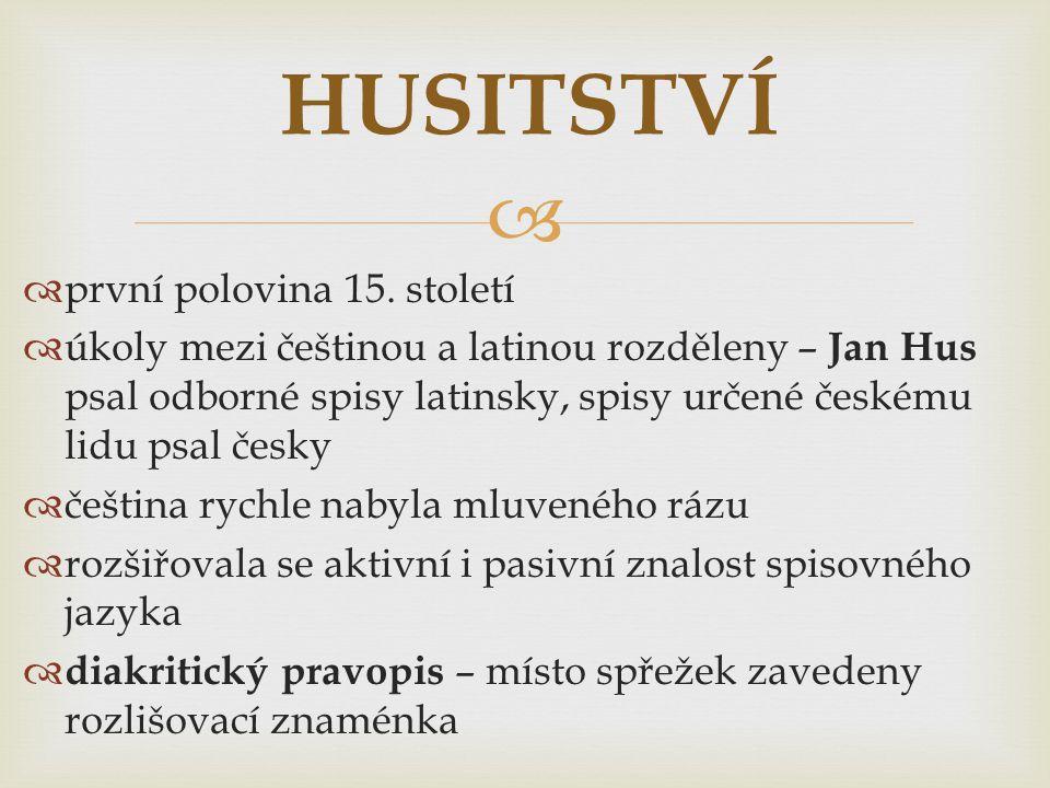 HUSITSTVÍ první polovina 15. století