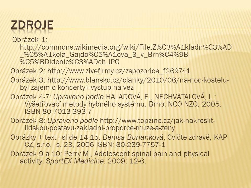 zdroje Obrázek 1: http://commons.wikimedia.org/wiki/File:Z%C3%A1kladn%C3%AD_%C5%A1kola_Gajdo%C5%A1ova_3_v_Brn%C4%9B-%C5%BDidenic%C3%ADch.JPG.