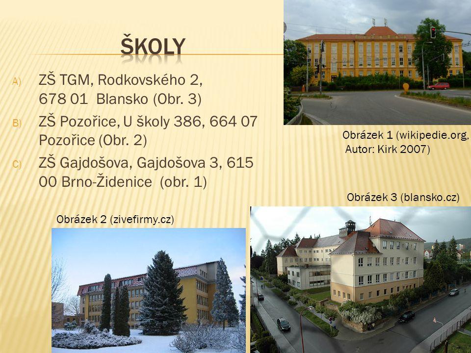 školy ZŠ TGM, Rodkovského 2, 678 01 Blansko (Obr. 3)