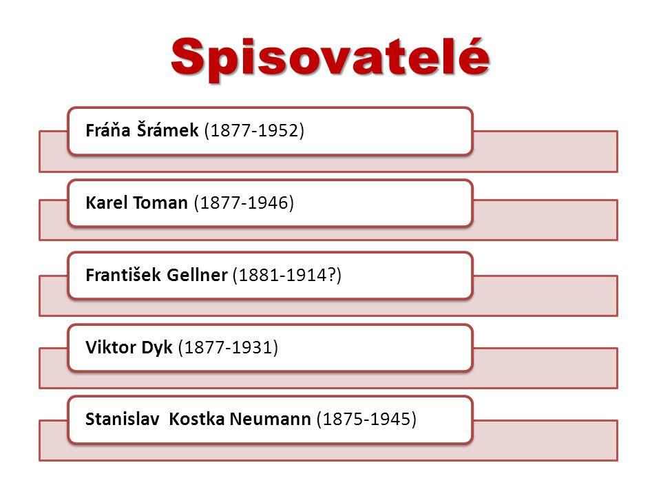 Spisovatelé Fráňa Šrámek (1877-1952) Karel Toman (1877-1946)