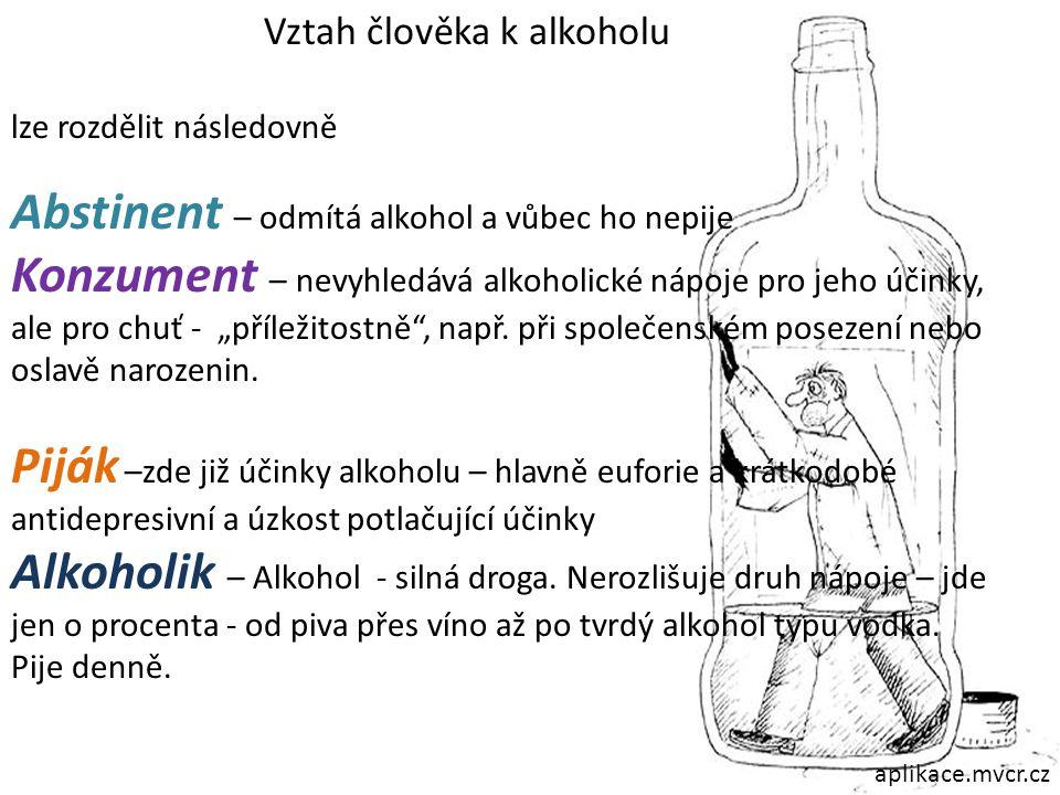 Abstinent – odmítá alkohol a vůbec ho nepije