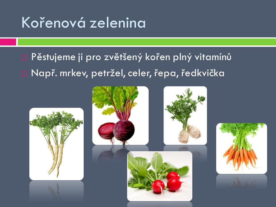 Kořenová zelenina Pěstujeme ji pro zvětšený kořen plný vitamínů