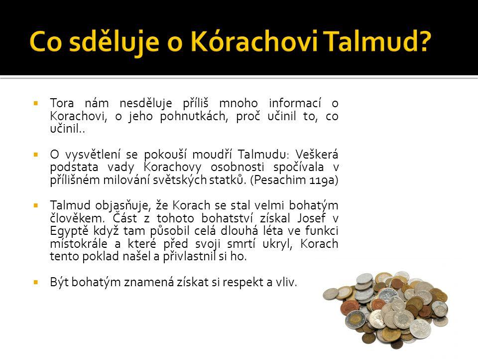 Co sděluje o Kórachovi Talmud