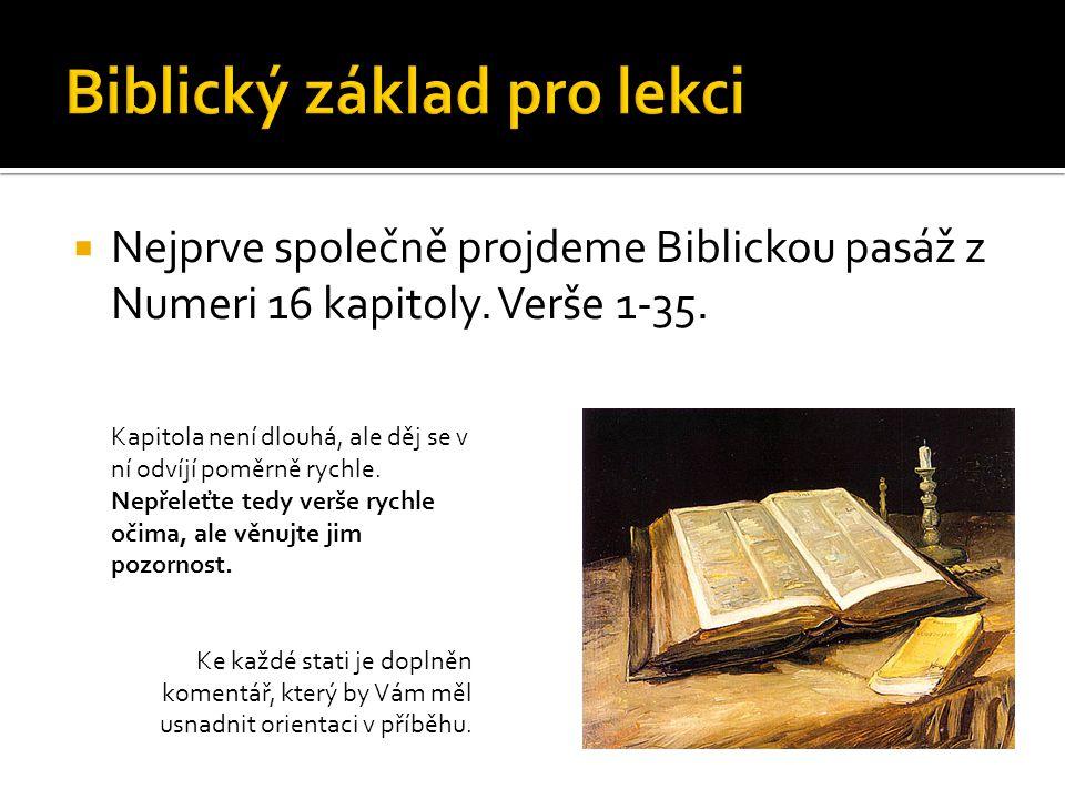 Biblický základ pro lekci