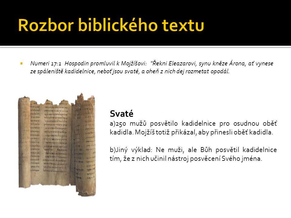 Rozbor biblického textu
